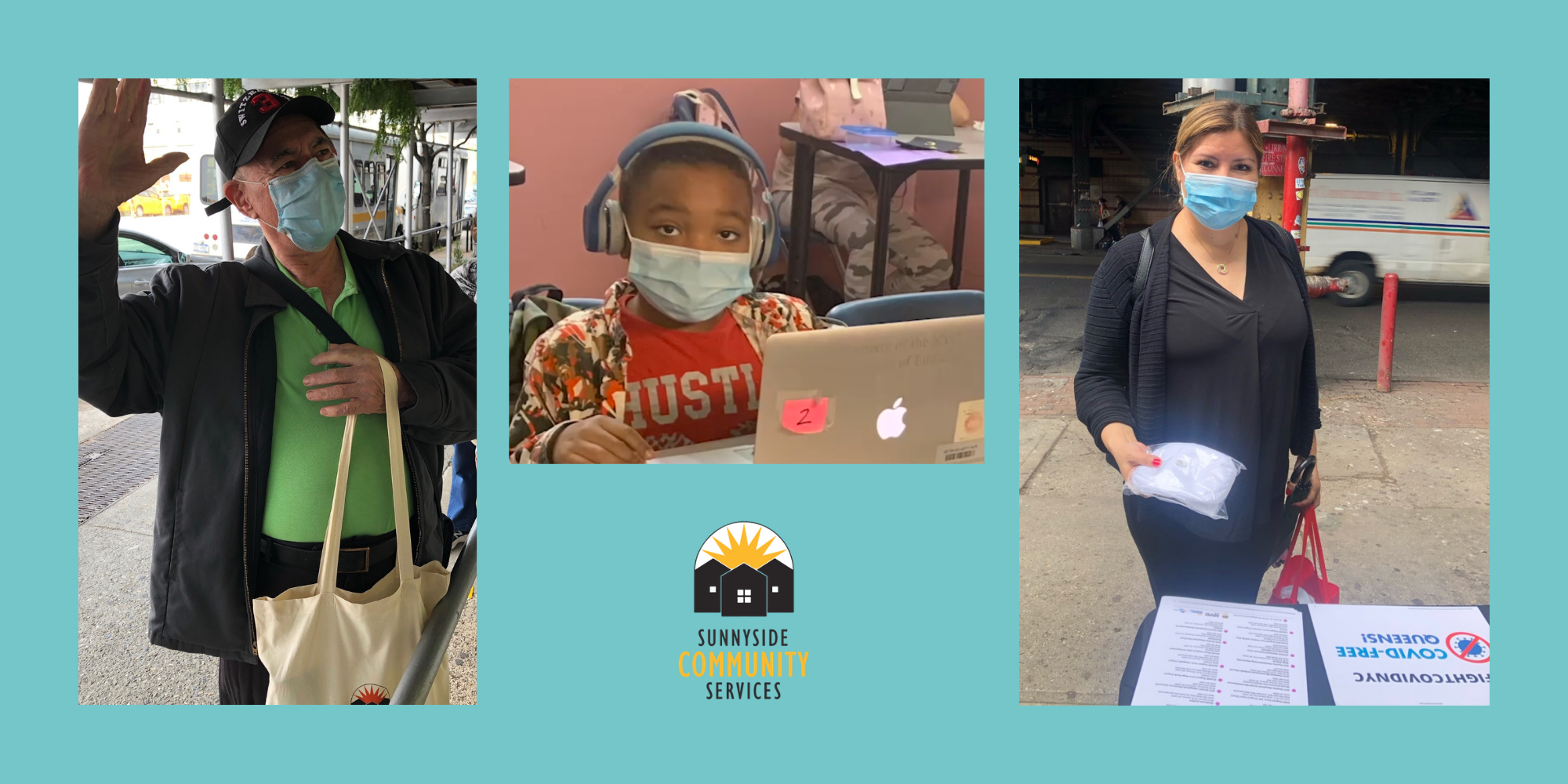 During the pandemic, Sunnyside Community Services has been helping our community with free groceries, masks, wellness supports, and virtual programs.