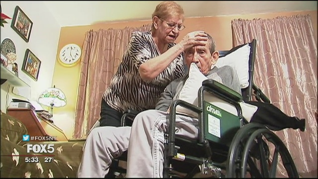 A screenshot from the Fox 5 NY video on SCS programs for family caregivers