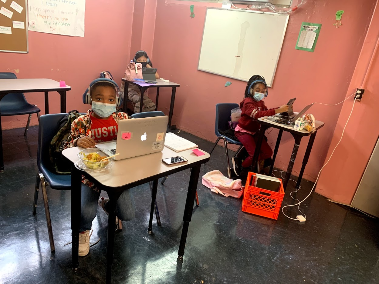 kids in a SCS learning lab classroom