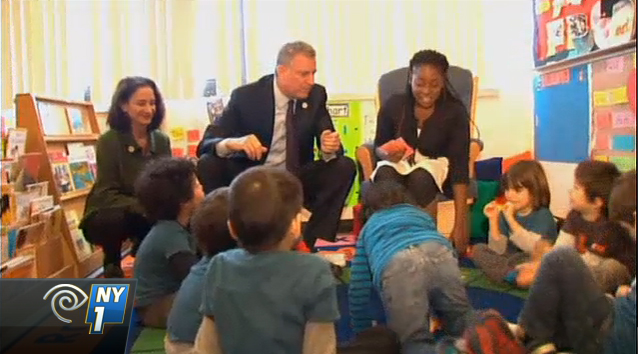 Mayor Bill de Blasio Speaking at Up Pre-Kindergarten