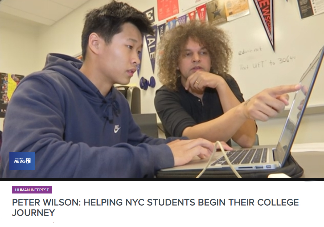 SCS College Readiness Peter Wilson is NY1 New Yorker of the Week Nov. 5 2018
