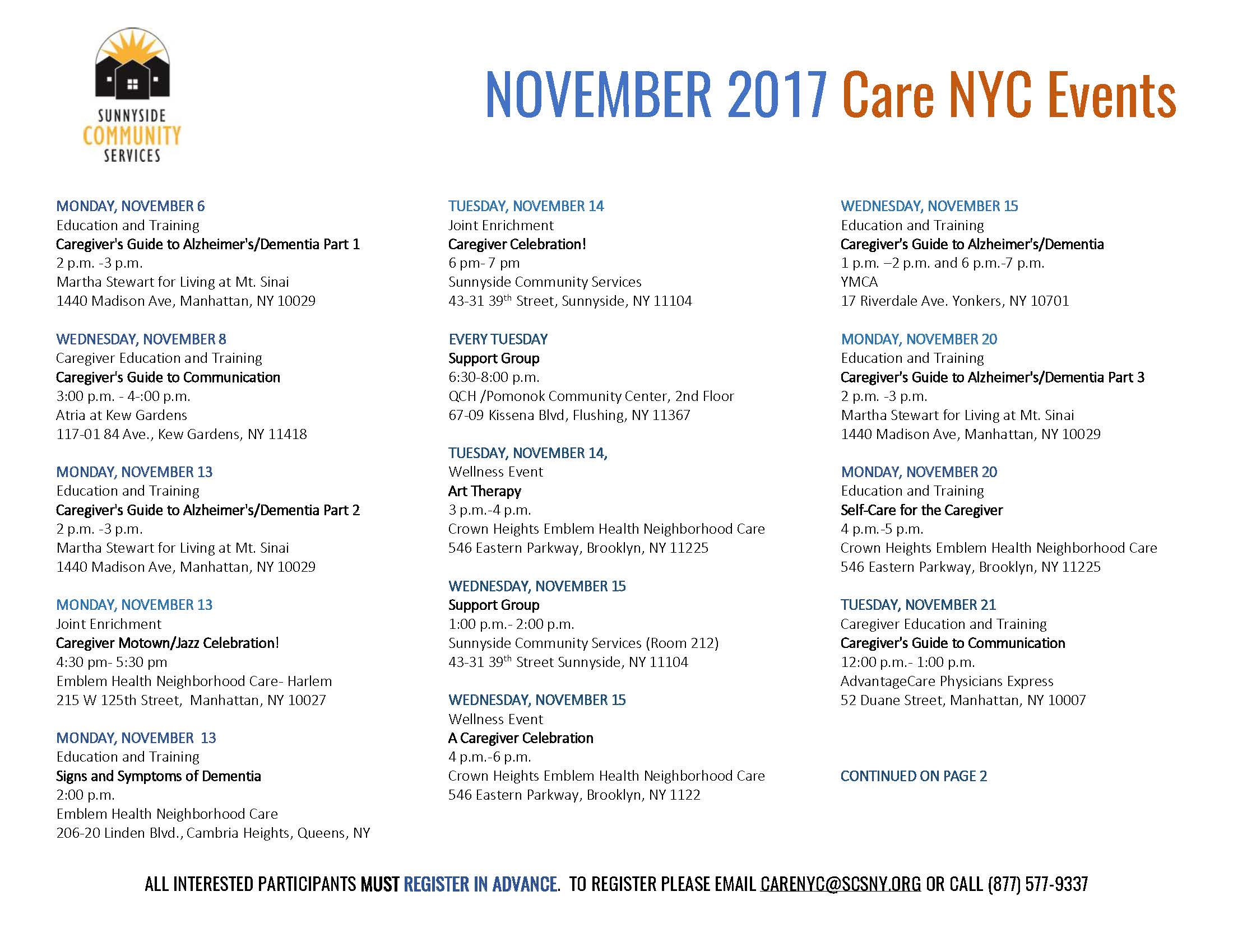 Care Nyc Support For Caregivers Sunnyside Community
