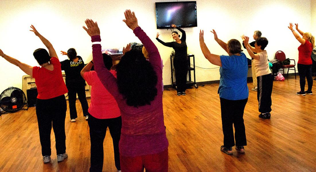 Dance and Stretching at Senior Programs