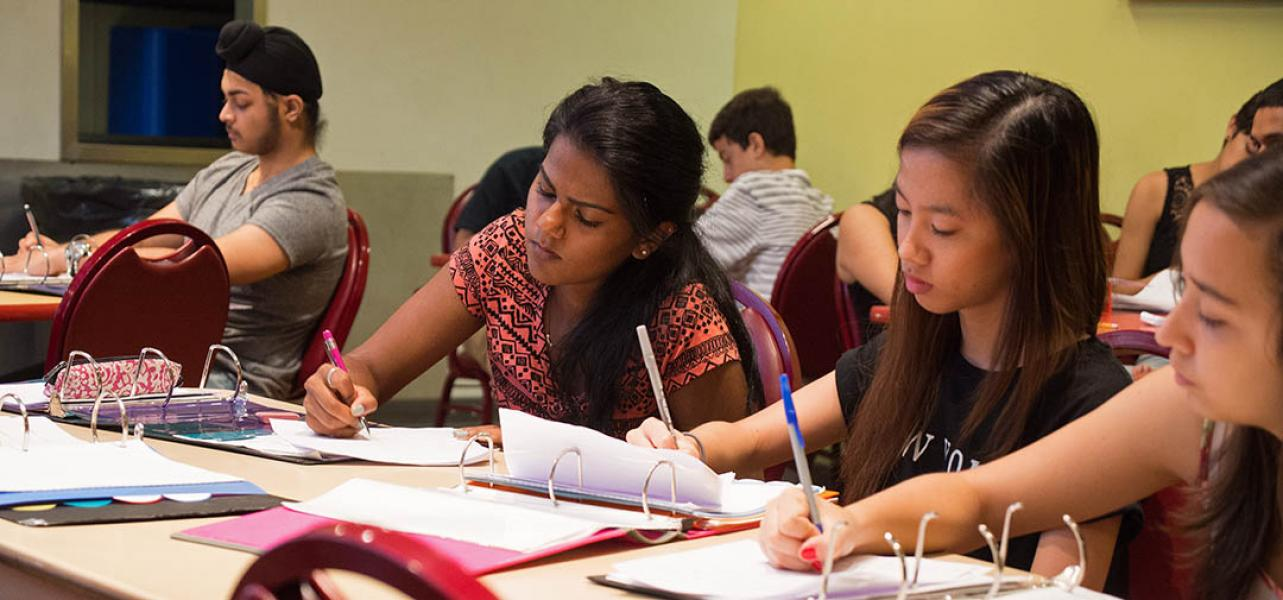 CRP students work on an assignment