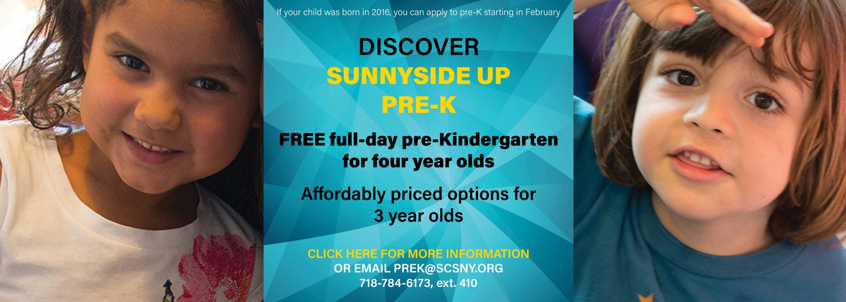 pre-K registration starts in February