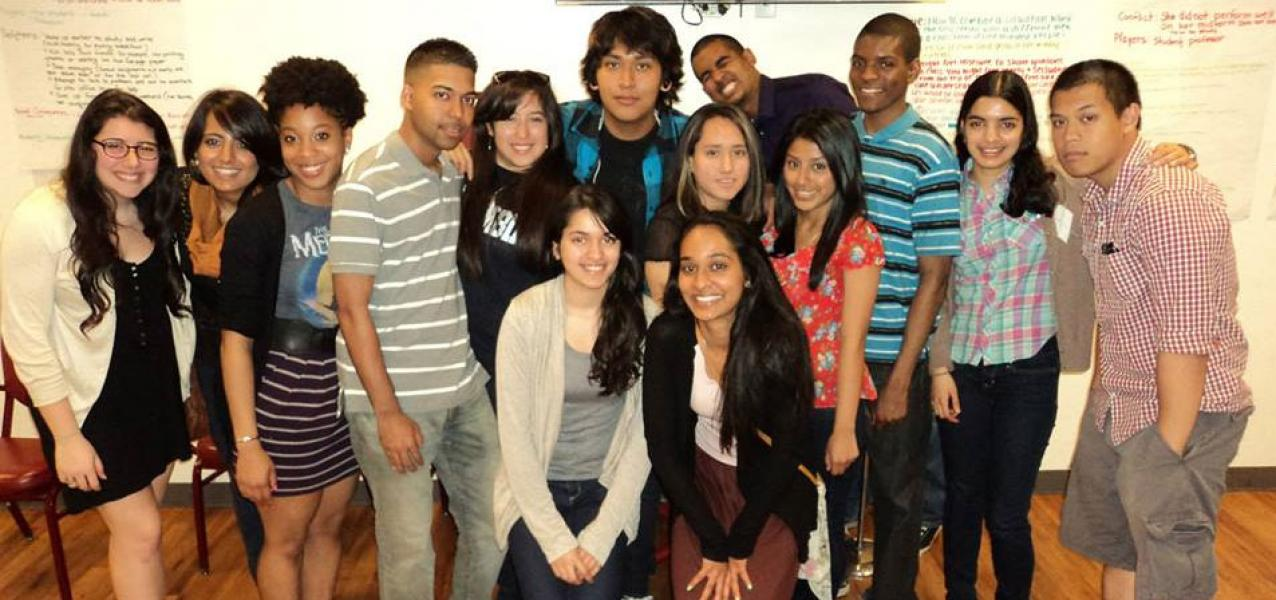 Group picture of young adults
