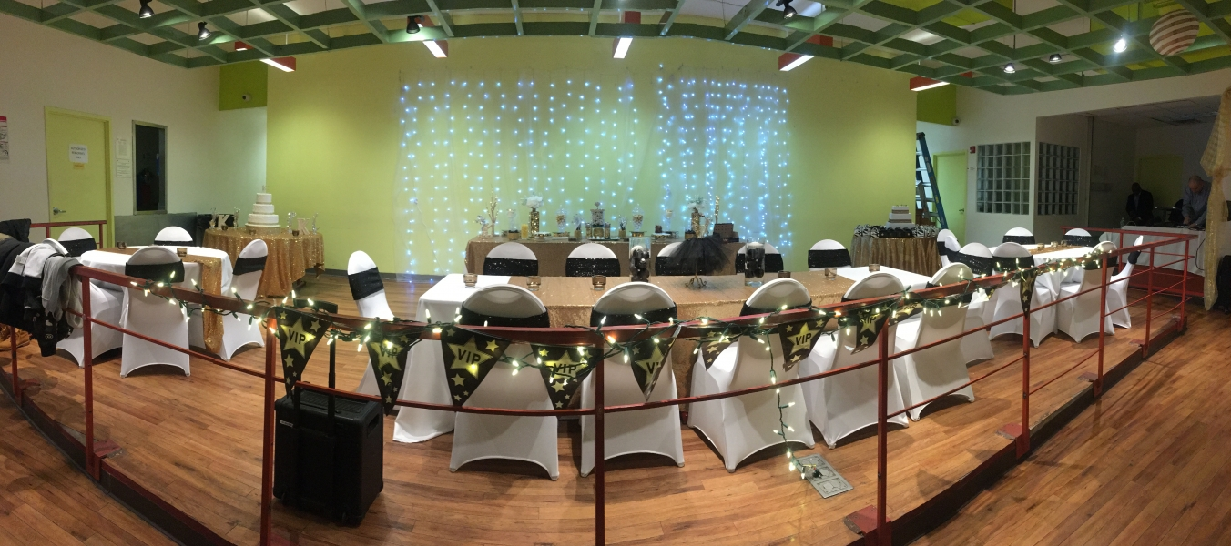 Sunnyside Event Space decorated for a special event