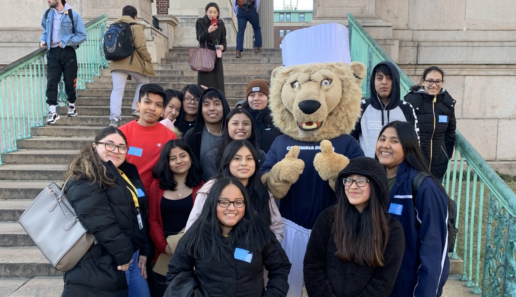 Students in the College Readiness program attend a trip to Columbia University.