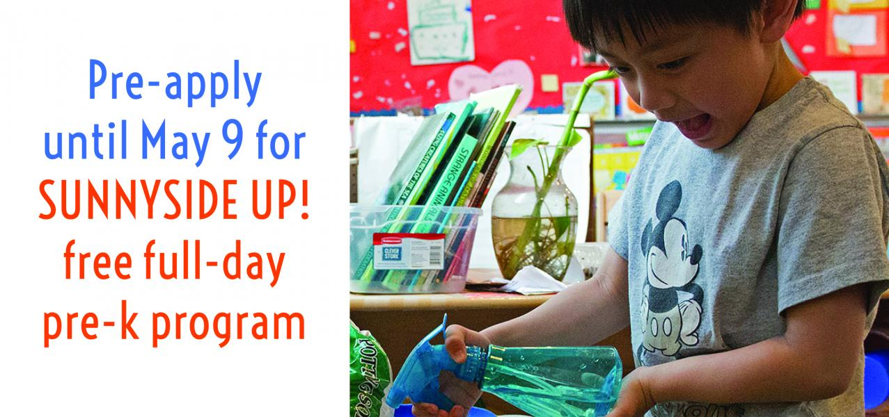 You can preapply for prek until May 9 2017