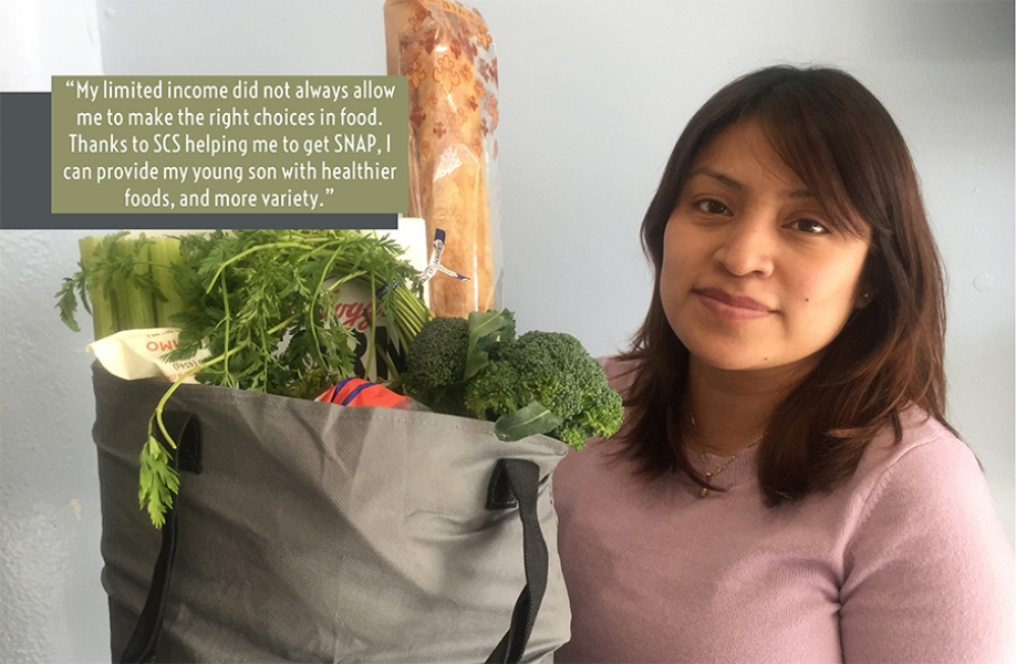 SNAP Participant with groceries