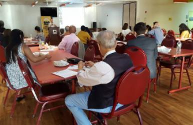 """Local participants at the """"Keep Families Covered"""" Community Forum at SCS"""