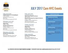CARE NYC JULY 2017 CALENDAR OF EVENTS