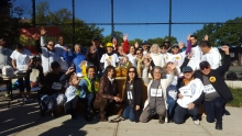 SCS staff at the Sunnyside Post Mile Run Walk on Ocrtober 5
