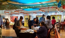 Job-seekers attend SCS Career Fair in September 2018