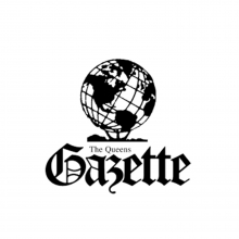 logo of the weekly newspaper The Queens Gazette