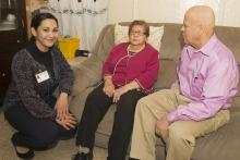 Care NYC staff interacts with family caregivers at home