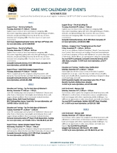 November 2018 Calendar of Events for Care NYC page 1