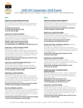 September 2018 Calendar of Events for Care NYC page 1