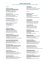 May 2018 Calendar of activities for CARE NYC page 1