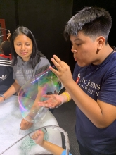 Students attend New York Hall of Science